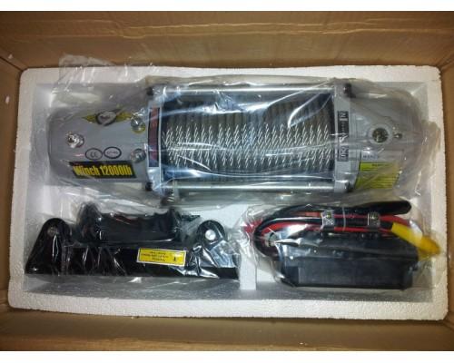 Лебедка электрическая 12000lbs/5443kg с роликами (блок питания и управления в алюминиевом корпусе)