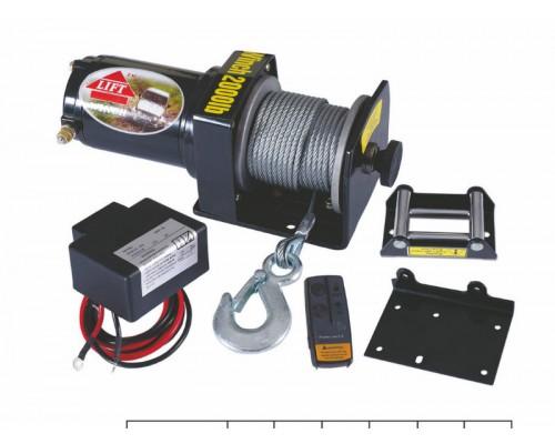 Лебедка электрическая 2000lbs/907 kg