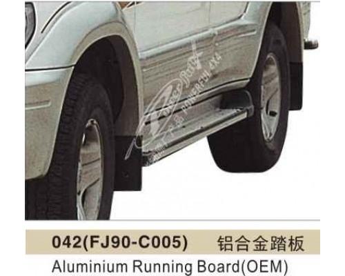 Подножки алюминиевые TOYOTA LAND CRUISER PRADO 90 1995-2002