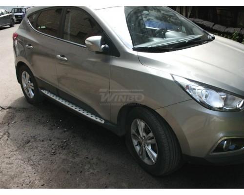 Подножки боковые Hyundai IX35 2010+