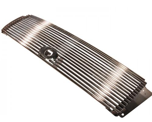 Решетка радиатора нерж. Toyota LC PRADO FJ150 2009-2013 (совместимая с камерой)