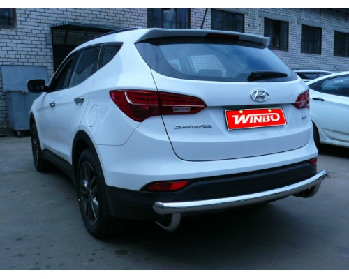 Защита заднего бампера Hyundai Santa Fe