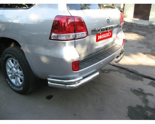 Защита заднего бампера Toyota LAND CRUISER 200, LEXUS LX570