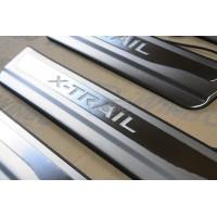 Накладка порога двери Nissan X-Trail 2014+
