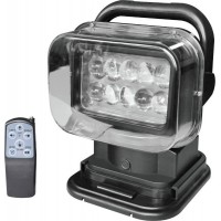 Фара-искатель 12V 50W (LED) Черный с проводным пультом