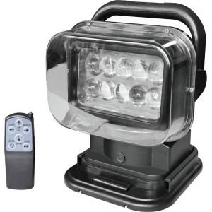 Фара-искатель 12V 50W с д/у (LED) Черный
