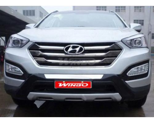 Накладка переднего бампера Hyundai SANTA FE 2012+ (без ходовых огней)