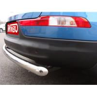 Защита заднего бампера нерж. Kia SPORTAGE 10+