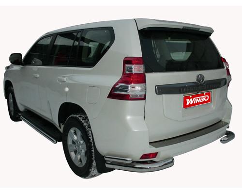 Защита заднего бампера нерж. Toyota LAND CRUISER PRADO FJ150 2009+ 76mm50mm