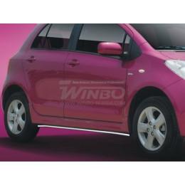 Защита кузовного порога нерж. Toyota YARIS 05+