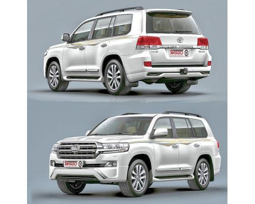 Накладка переднего и заднего бампера Toyota Land Cruiser 200 2016+