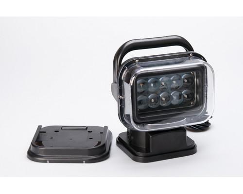 Фара-искатель 12V 50W с д/у (LED) Черный (на магните)