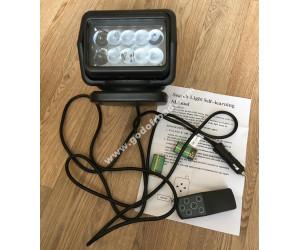Фара-искатель 12V 50W (LED) с д/у Черный (на магните)