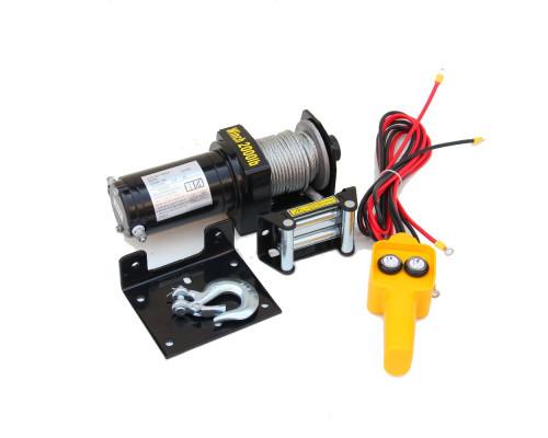 Лебедка электрическая 12V 2000lbs/907кг (блок управления влагозащищен)
