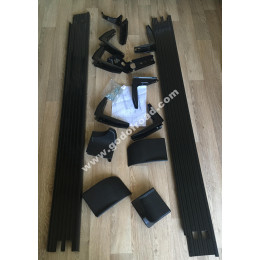 Подножки алюминиевые TOYOTA LAND CRUISER 100 (1998-2003) черные