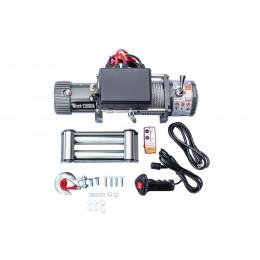 Лебедка электрическая 12V 12000lbs/5443кг (блок управления и механизм влагозащищены, IP68, GRIZZLY, СЕРАЯ)