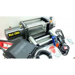 Лебедка электрическая 24V 12000lbs/5443кг (блок управления и механизм влагозащищены (IP66))