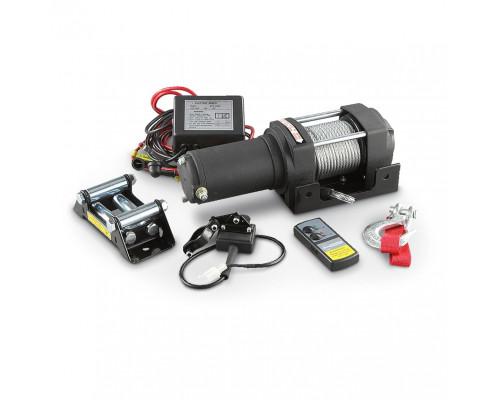 Лебедка электрическая 12V 3000lbs/1361кг с кевларовым тросом