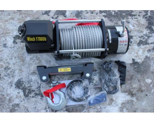 Лебедка электрическая 24V 17000lbs/7620кг