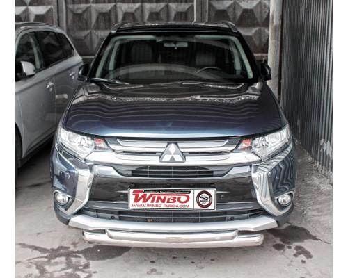 Защита переднего бампера Mitsubishi Outlander 2014+