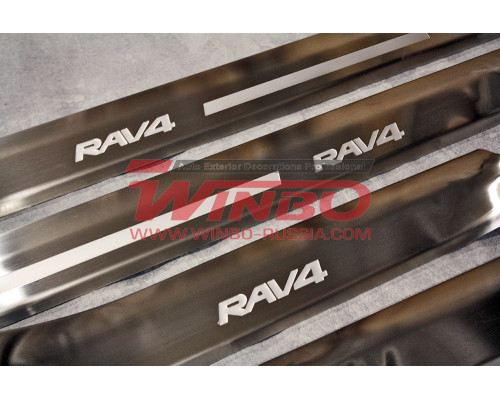 Накладка порога двери Toyota RAV4 2016+