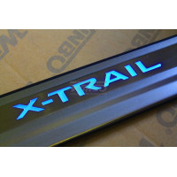 Накладка порога двери нерж. Nissan X-Trail 2014+