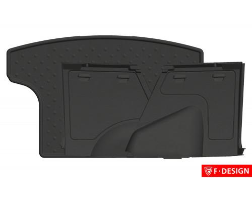 Органайзеры в багажник с ковриком для CHEVROLET Niva (комплект) (F-DESIGN)