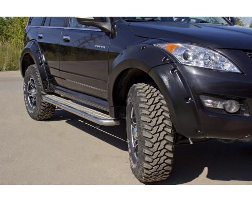 Расширители колёсных арок (фендеры) GREAT WALL Hover H5 2011-2016 (вынос 50 мм) - комплект 4шт