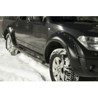 Расширители колёсных арок (фендеры) NISSAN Navara 2005-2010 (вынос 40 мм) - комплект 4шт