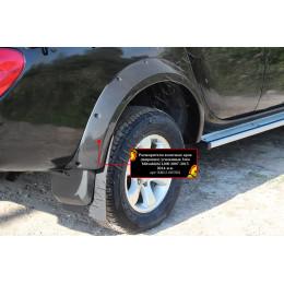 Расширители колёсных арок (фендеры) MITSUBISHI L200 2007-2015 (вынос 90 мм) - усиленные