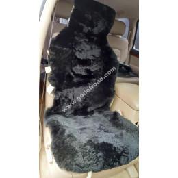 Накидка на сиденья меховая, овчина (короткий ворс, без подклада) - 1шт (Чёрная)